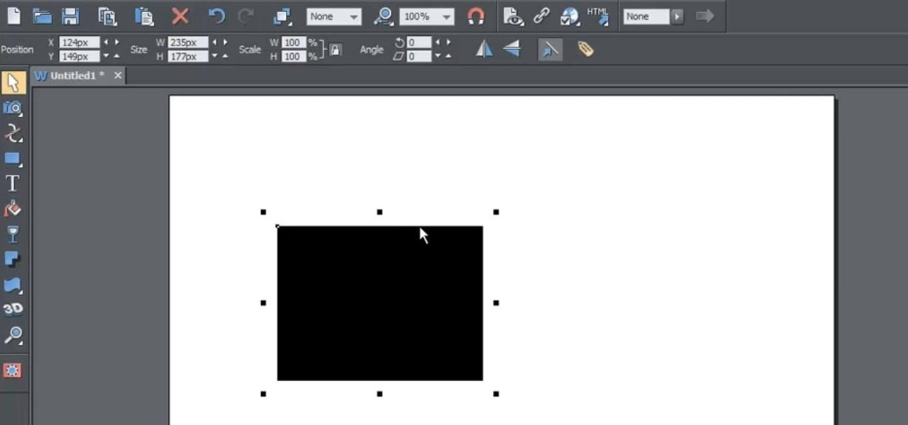 Use the Selection Tool in Xara Web Designer