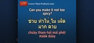 Pronounce food and drinks in Thai
