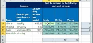 Calculate equivalent earnings in Excel
