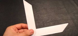 Make an origami boomerang