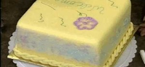Make & decorate the best wishes square cake