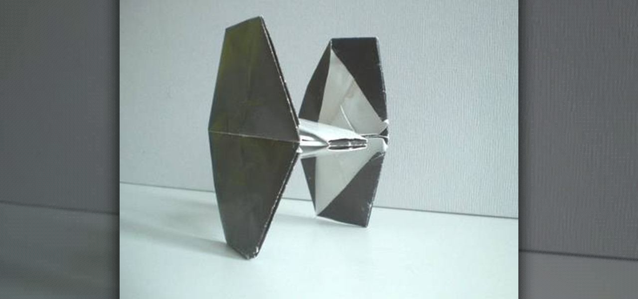 How To Fold An Origami Tie Fighter From Star Wars Origami
