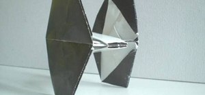 Fold an origami TIE Fighter from Star Wars