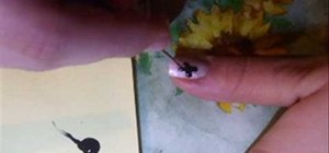 Create a butterfly on your nail