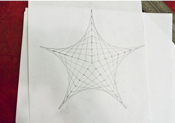 Creating Line Designs : How to create parabolic curves using straight lines « math