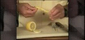 Cut a lemon twist for a cocktail