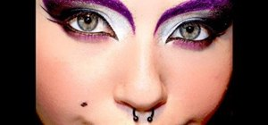 Apply a crazy purple eye makeup look
