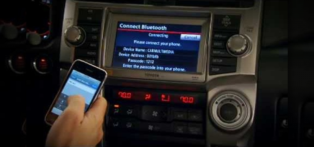 How To Pair Phones To A 2010 Toyota 4runner Navigation System