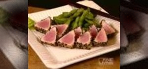 Make low-carb seared ahi tuna with edamame beans