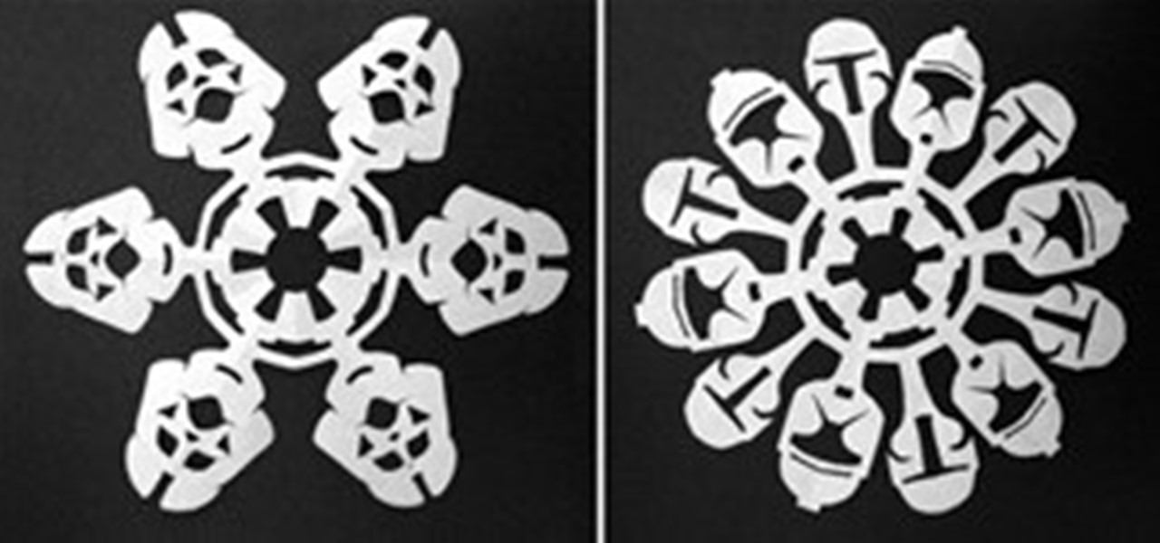 Make Your Own Star Wars Snowflakes