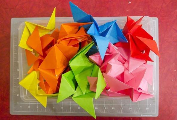 Modular Origami: How to Make a Truncated Icosahedron, Pentakis ...