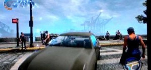 Use a glitch to get inside a car in Infamous 2 for PS3