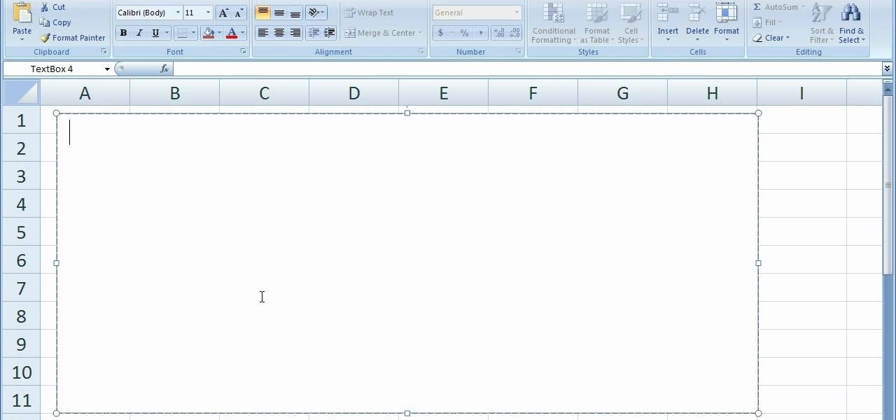 how to use a text box in excel 2007  u00ab microsoft office
