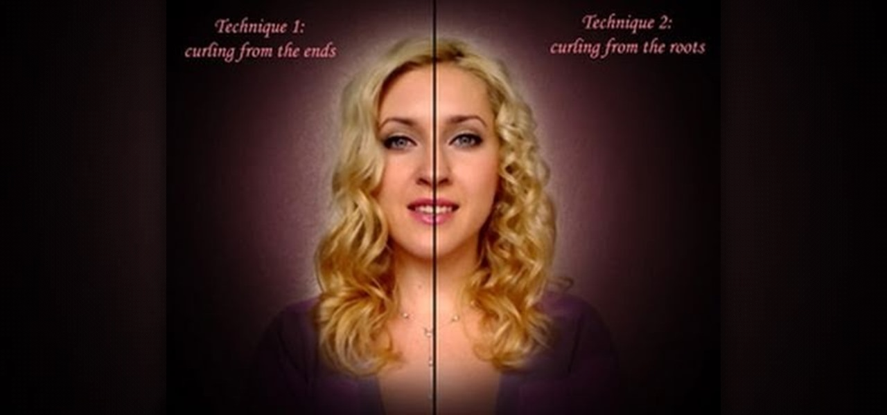 Tremendous How To Curl Your Hair Two Different Ways Using Conical Hair Short Hairstyles Gunalazisus