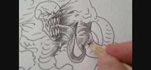Shade a demon with various pencil grades