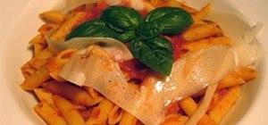 Make a basic tomato and basil marinara sauce