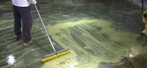 Acid stain a floor