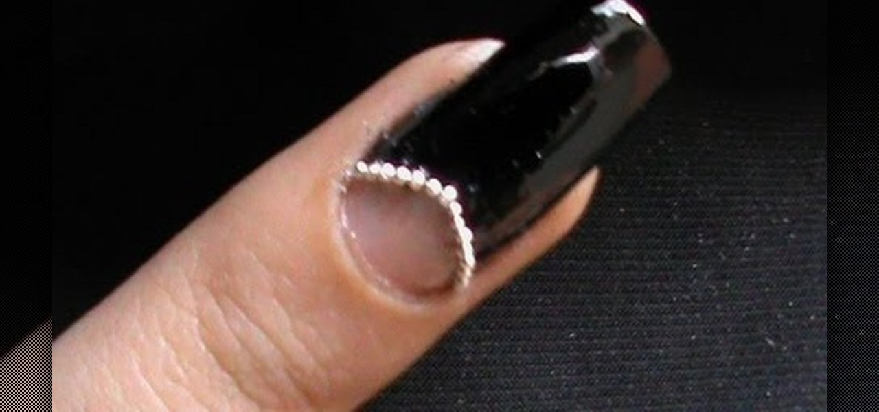 Do Half-Moon Manicure Nail Art