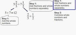 Add mixed numbers with uncommon denominators