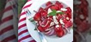 Make a watermelon and feta cheese summer salad
