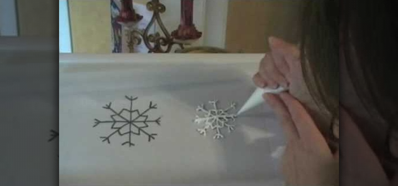 how to make snowflakes for a cake