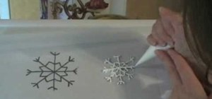Make a royal icing snowflake for your cake