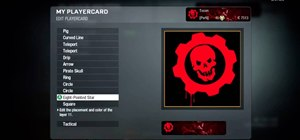 Draw the Gears of War logo in the Call of Duty: Black Ops emblem editor