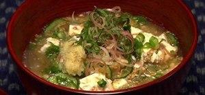 Make Japanese Hiyajiru with horse mackerel and miso