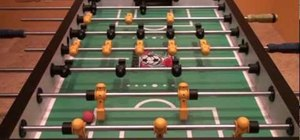 Use bank shots to get off the wall in foosball