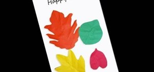 Make a fall leaf card with your children