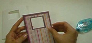 Make sparkly window picture frame card