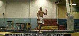 Do the back handspring in gymnastics
