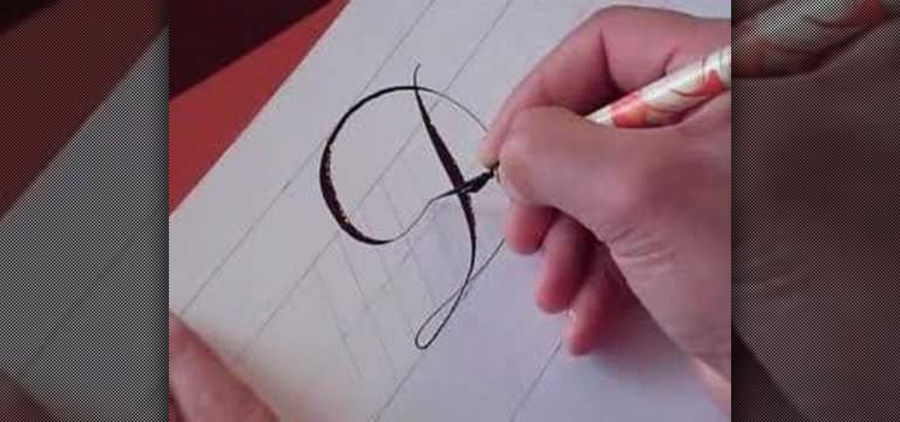 How To Write The Letter D In Calligraphy Copperplate