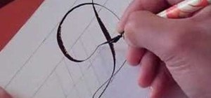 Write the letter D in calligraphy copperplate