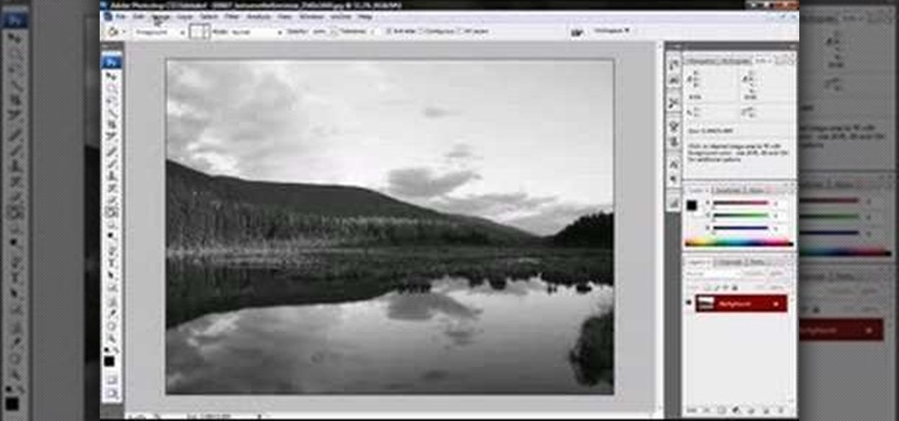 How to convert color photos to black and white in for Convert photo to coloring page photoshop