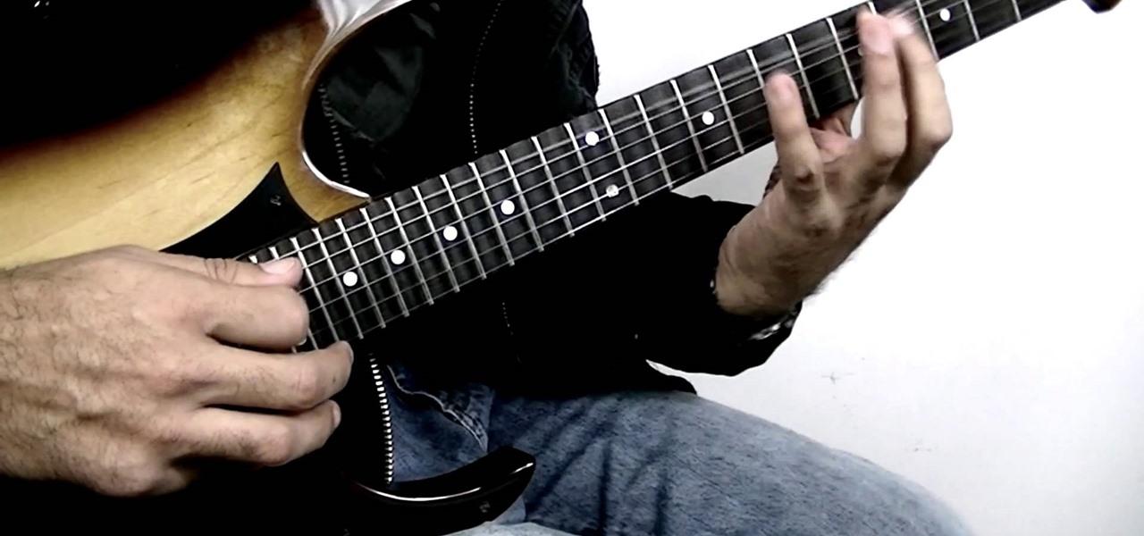Electric guitar lick