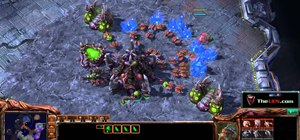 Use the 14 Spawning / 15 Hatchery Zerg build order in StarCraft 2