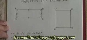 Understand the properties of a rectangle