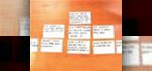 Use the screenwriting index cards pyramid trick to outline a screenplay