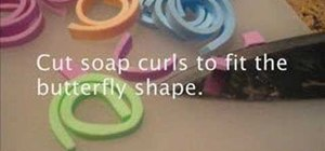 Make butterfly curl soaps
