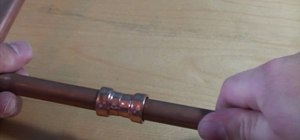 Use copper push-fit fittings to connect piping