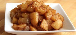 Make Korean potato side dishes