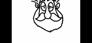 Do a line drawing of Saunta Claus