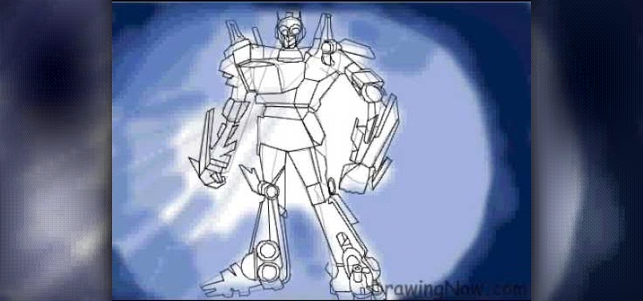 How To Draw Optimus Prime Leader Of The Transformers Drawing