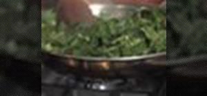 Sauté greens