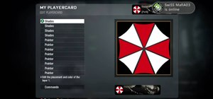 Draw a Resident Evil-style umbrella in the Black Ops emblem editor