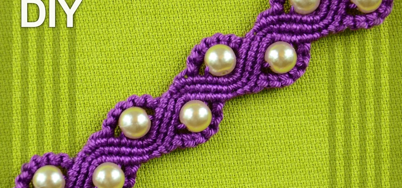 Make a SNAKE or a WAVE Macrame Bracelet with Beads