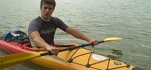 Kayak using effective paddle strokes