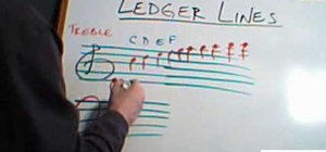 Use ledger lines in music