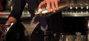 Make a dirty vodka martini with olives